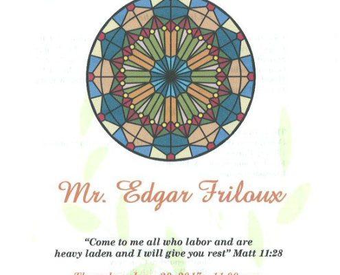 MR Edgar Friloux obituary