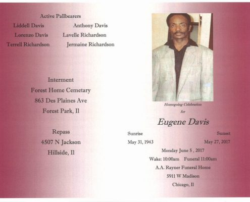 Eugene Davis Obituary