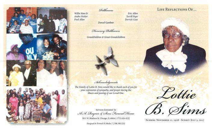 Lottie B Sims Obituary