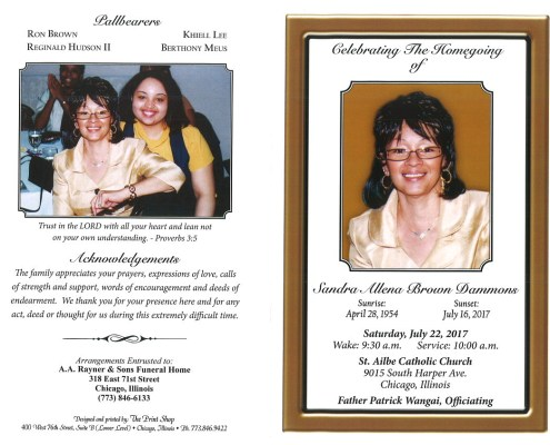 Sandra Allena Brown Dammons Obituary