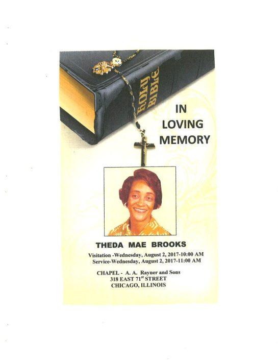 Theda Mae Brooks Obituary