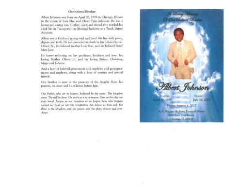 Albert Johnson Obituary
