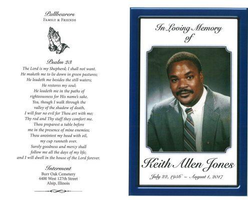 Keith Allen Jones Obituary