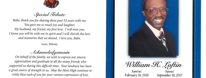 William H Loftin Obituary