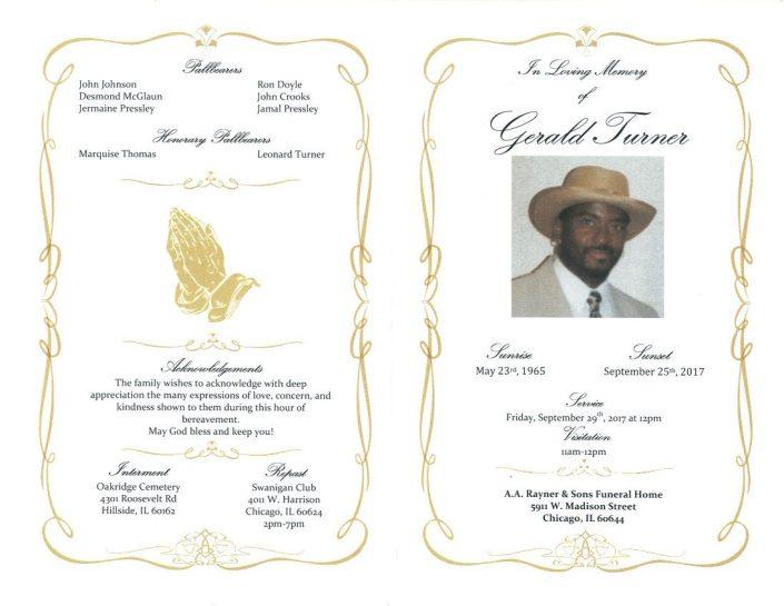 Gerald Turner Obituary