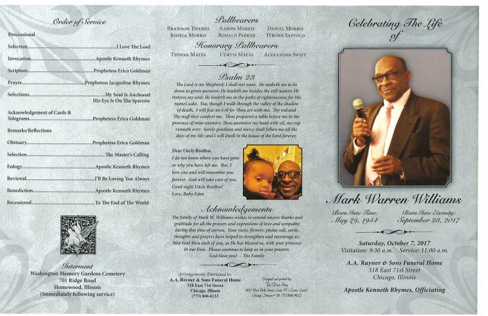 Mark Warren Williams Obituary