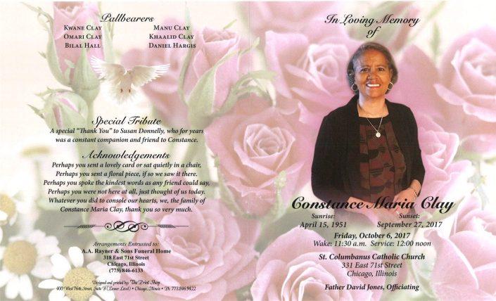 Constance Maris Clay Obituary