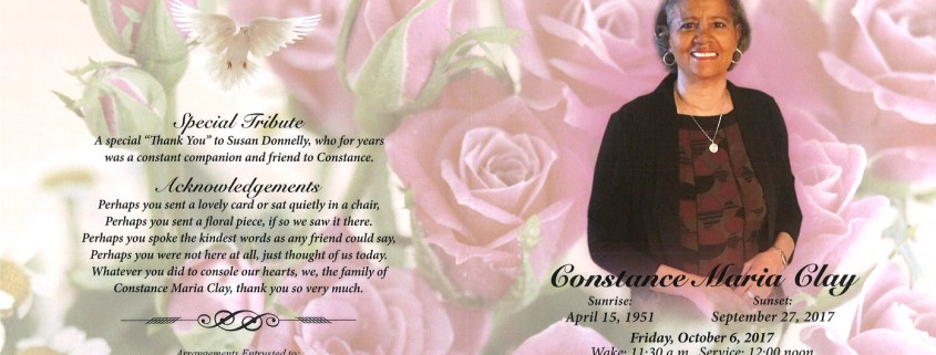Constance Maris Clay Obituary