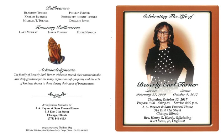 Beverly Earl Turner Obituary