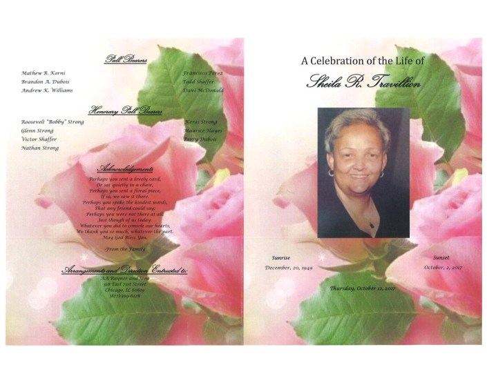 Sheila R Travillion Obituary