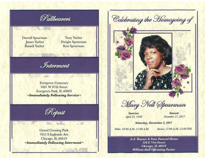 Mary Nell Spearman Obituary