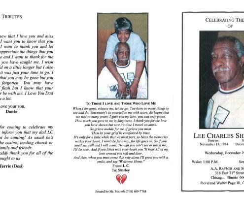 Lee Charles Sheffield Obituary