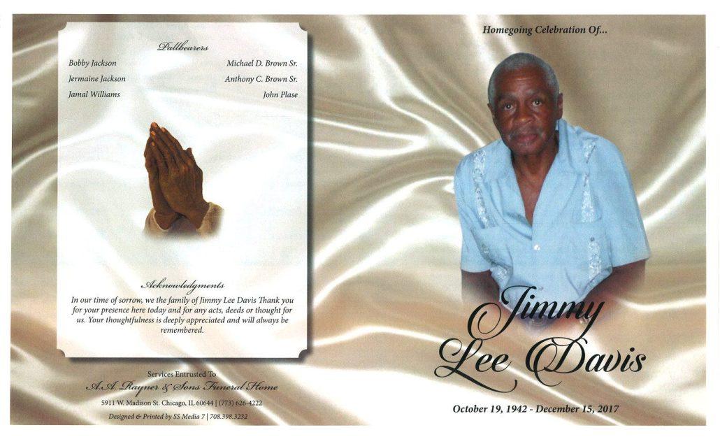 Jimmy Lee Davis Obituary