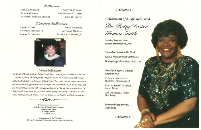 Dr Betty Foster Frison Smith Obituary