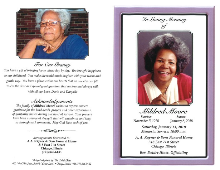 Mildred Moore Obituary