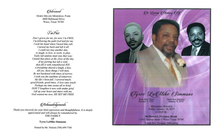 Tyree LaMike Simmons Obituary