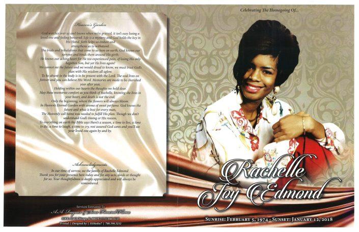 Rachelle Joy Edmond Obituary