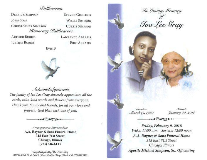 Iva Lee Gray Obituary