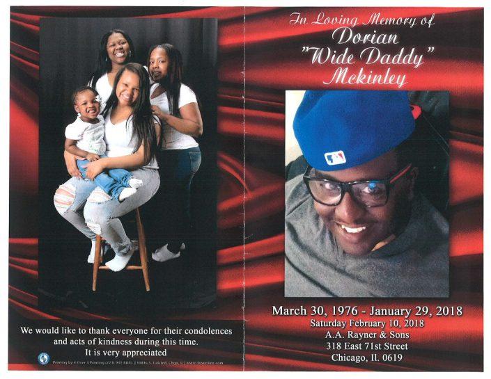 Dorian Wide Daddy Mckinley Obituary