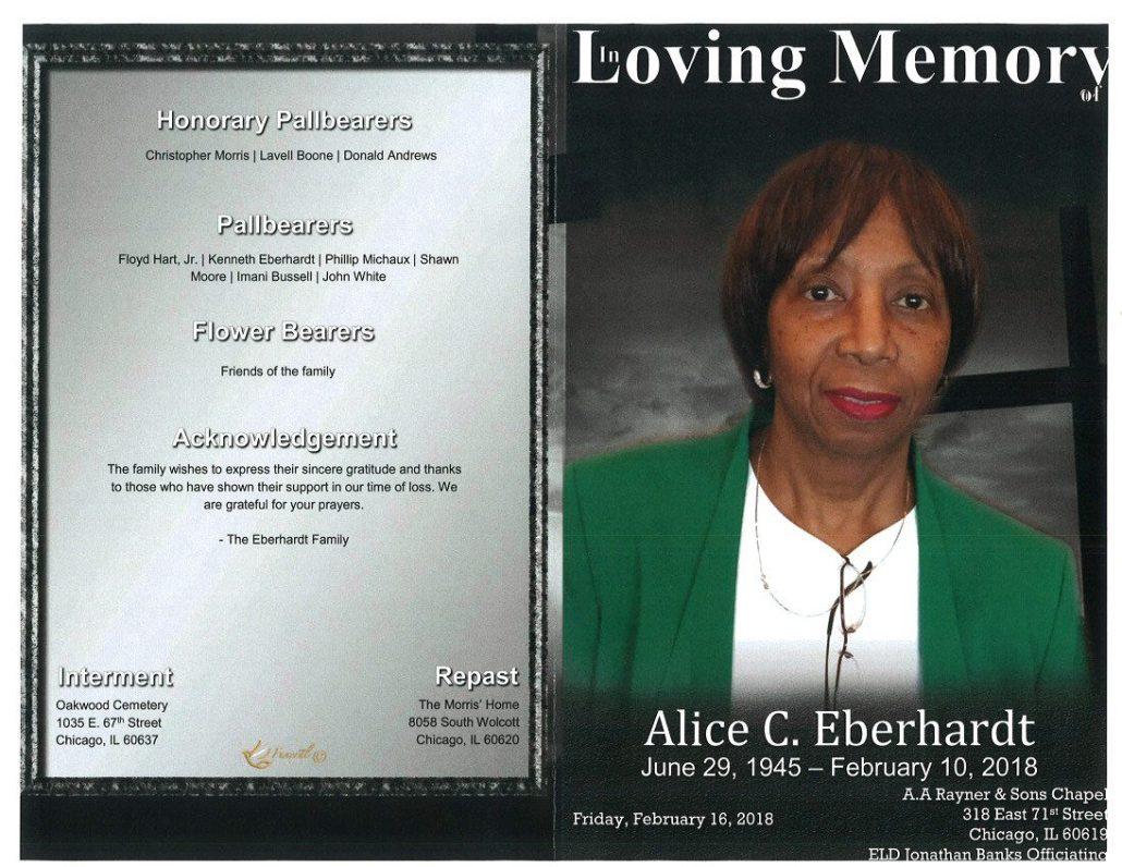 Alice C Eberhardt Obituary