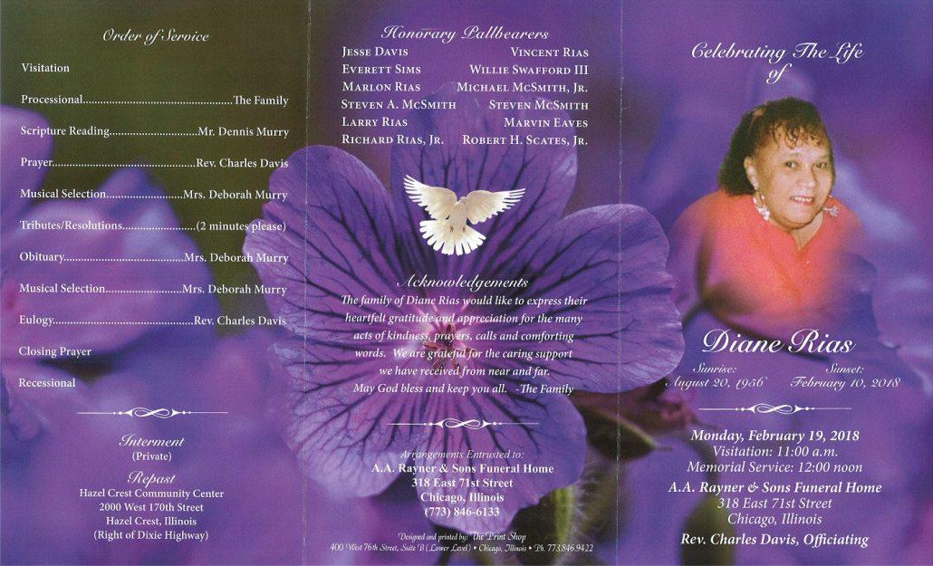 Diane Rias Obituary