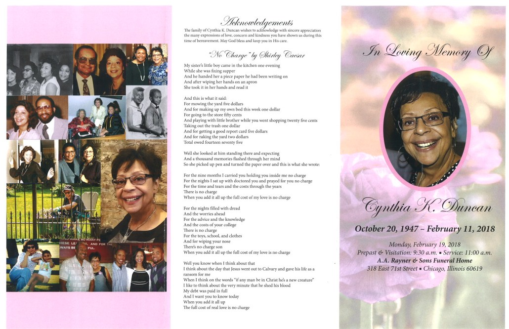 Cynthia K Duncan Obituary