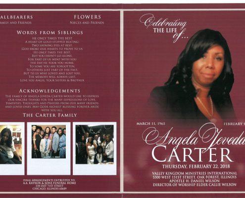 Angela Jeveda Carter Obituary