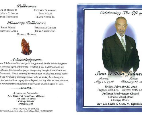 Sam Felton Johnson Obituary