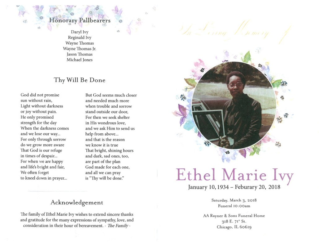 Ethel Marie Ivy Obituary