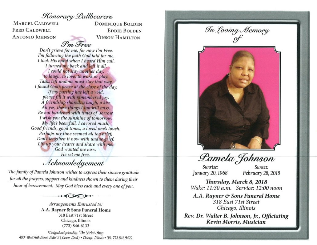 Pamela Johnson Obituary