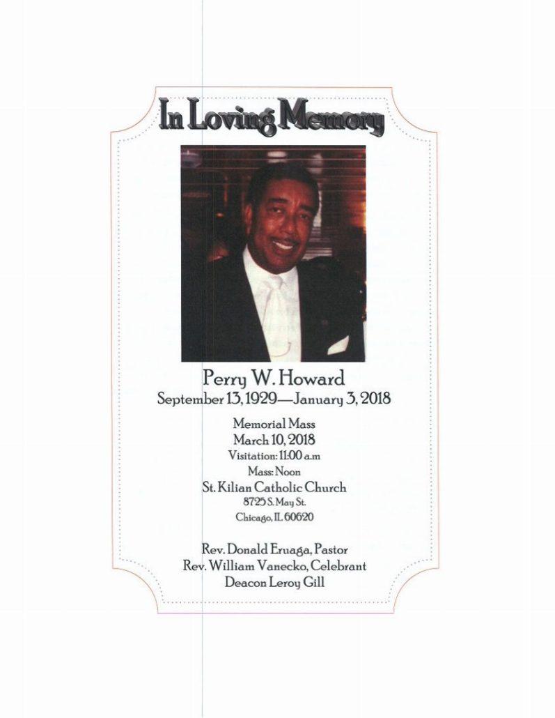 Perry W Howard Obituary