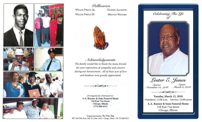 Lester E Jones Obituary