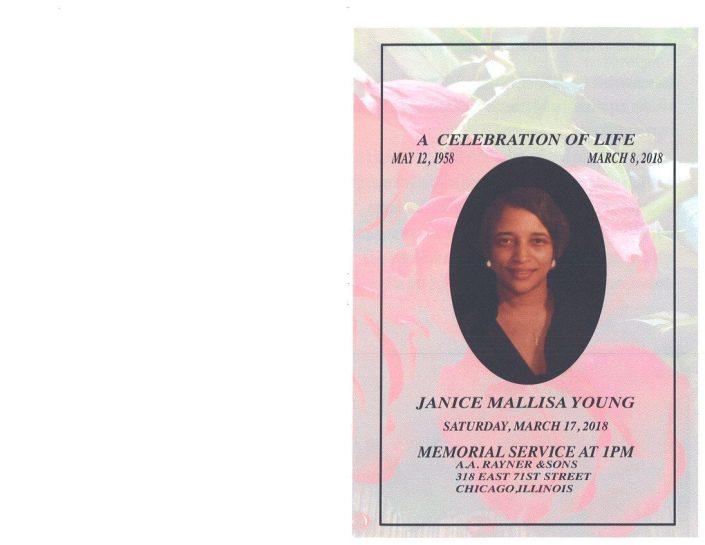 Janice Mallisa Young Obituary