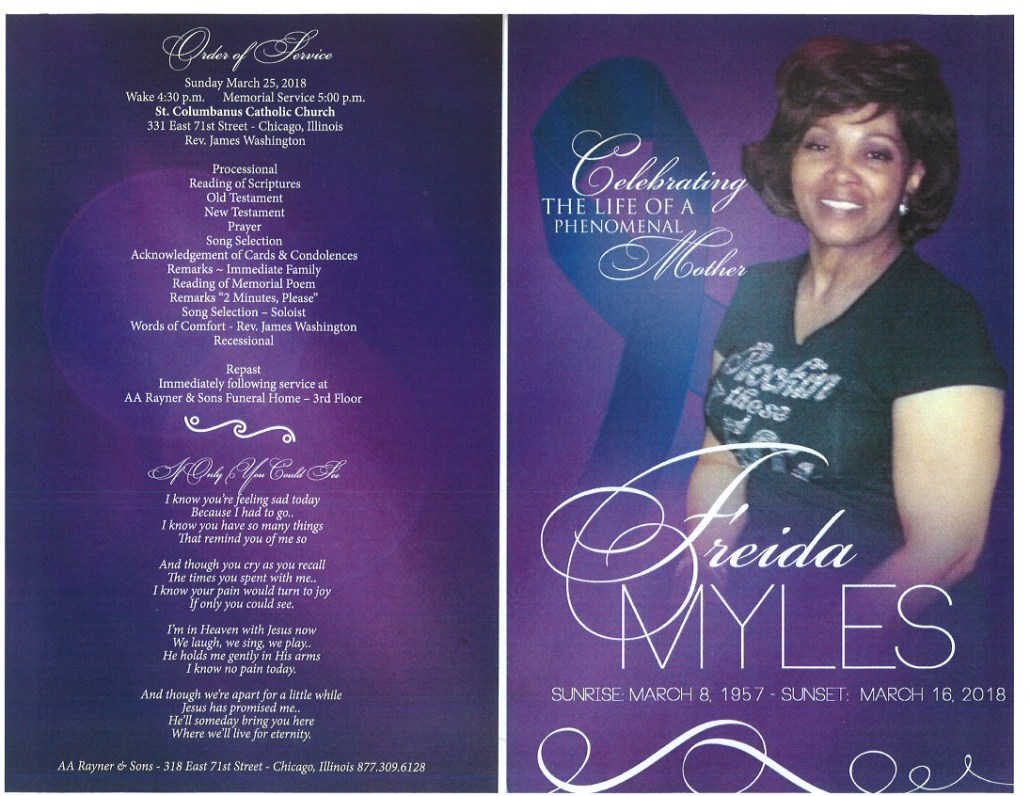Freida Myles Obituary