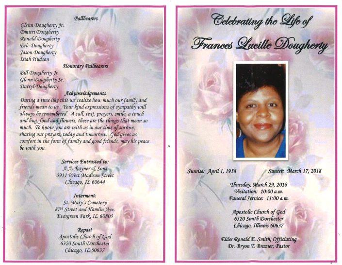Frances Lucille Dougherty Obituary