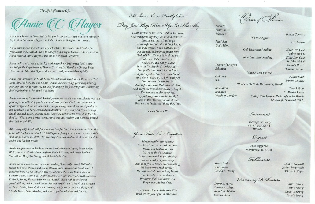Annie C Hayes Obituary