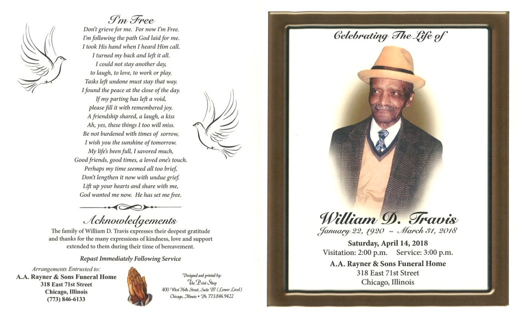 William D Travis Obituary