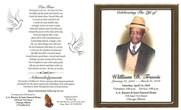William D Travis Obituary