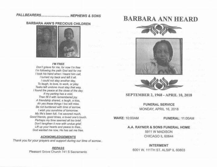 Barbara Ann Heard Obituary