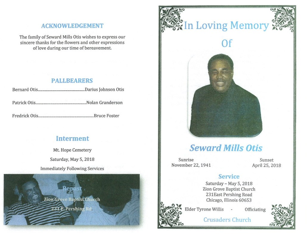 Seward Mills Otis Obituary