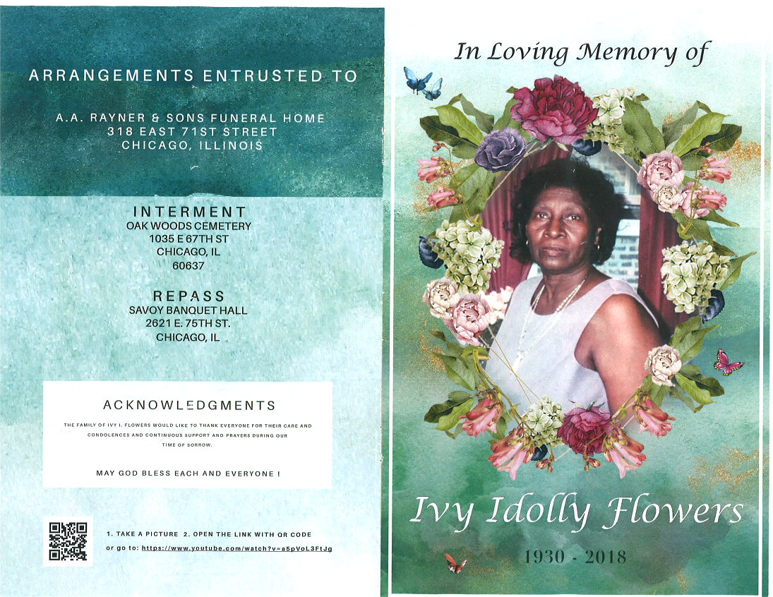 Ivy idolly flowers obituary aa rayner and sons funeral home ivy idolly flowers obituary izmirmasajfo