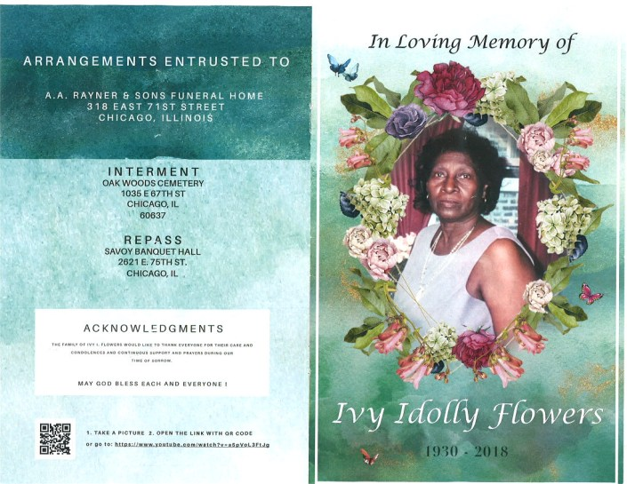 Ivy Idolly Flowers Obituary