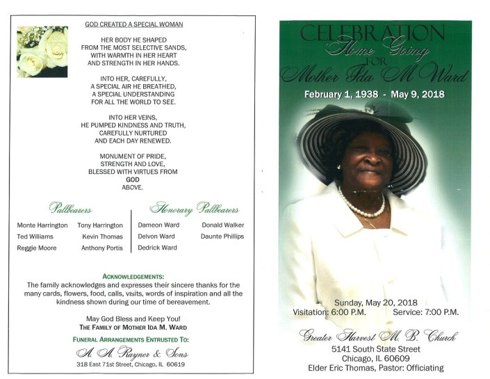 Ida M Ward Obituary