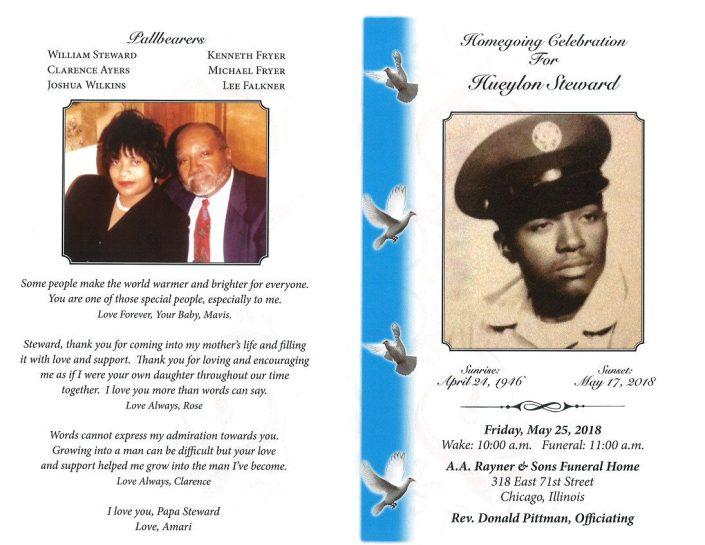 Hueylon Steward Obituary