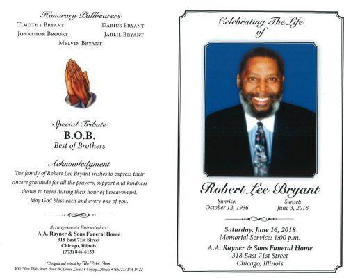 Robert Lee Bryant Obituary