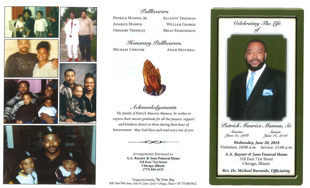 Patrick Maurice Mamon Sr Obituary