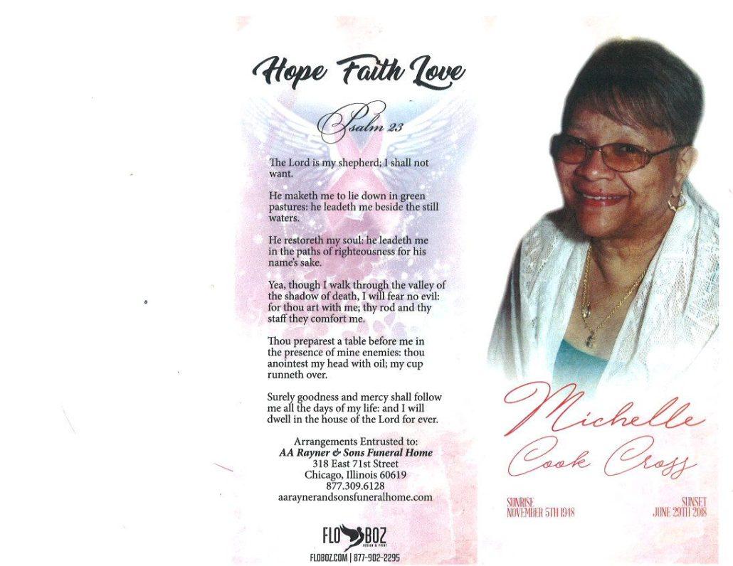 Michelle Cook Cross Obituary