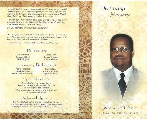 Melvin Gilbert Obituary