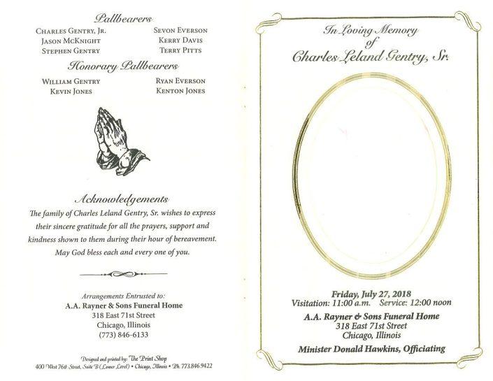 Charles Leland Gentry Sr Obituary