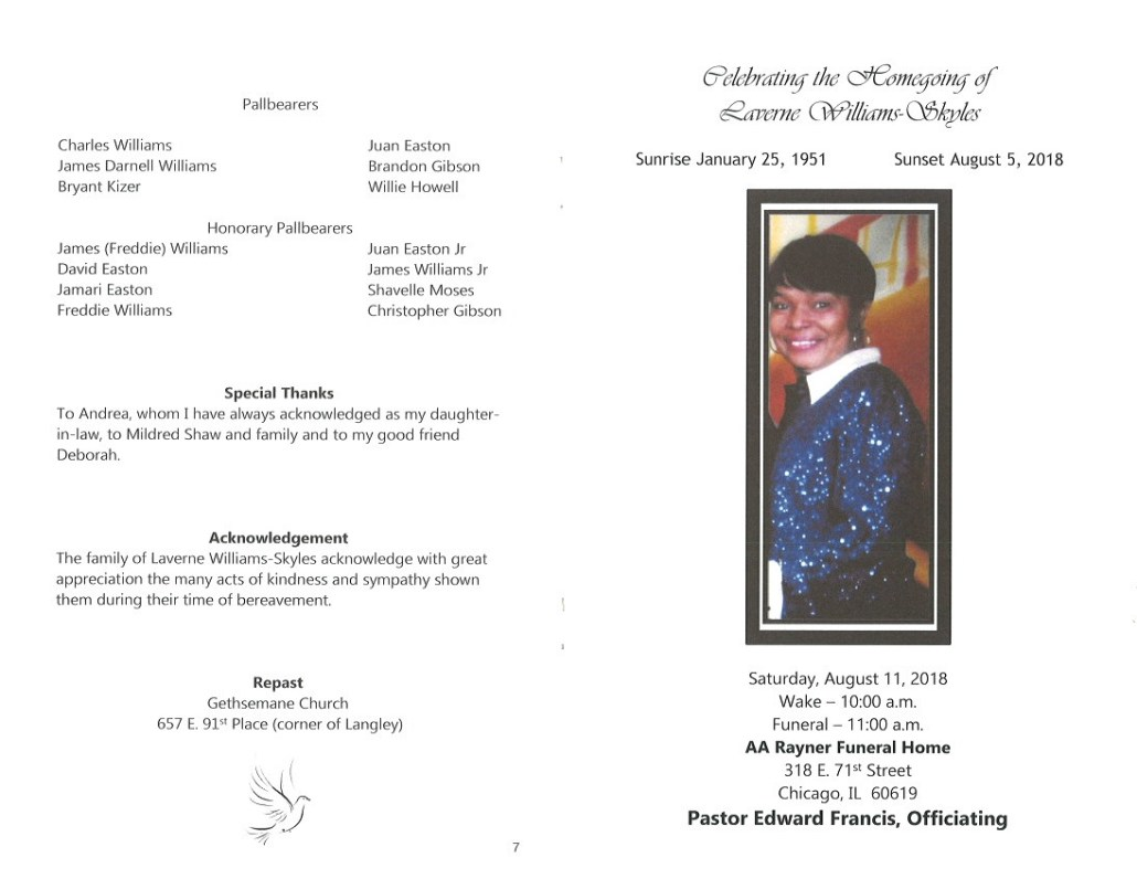 Laverne Williams Skyles Obituary